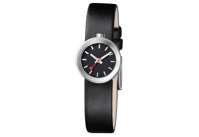 Mondaine 14mm Uhrenarmband Schwarz matt