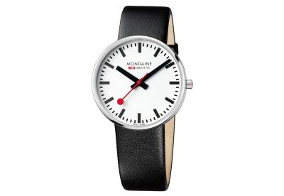 Mondaine 22mm Uhrenarmband Schwarz matt