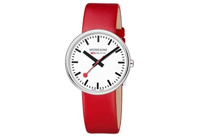 Mondaine 18mm Uhrenarmband Rot glänzend