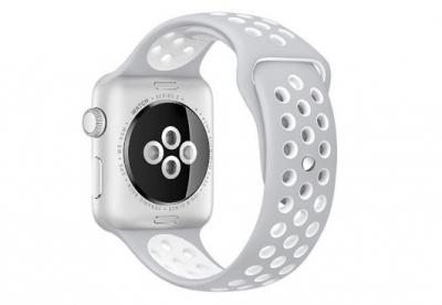 Ersatzband für Apple watch 42mm - Silikon grau/weiß