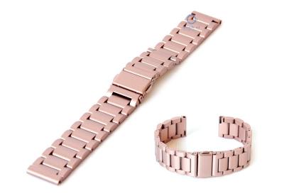 Uhrenarmband 18mm Edelstahl Rosa