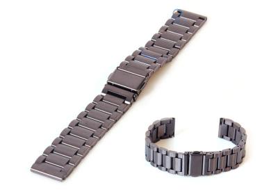 Uhrenarmband 18mm Edelstahl Gunmetal matt