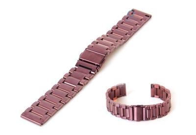 Uhrenarmband 18mm Edelstahl Aubergine