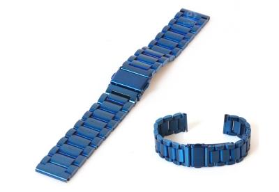 Uhrenarmband 18mm Edelstahl Blau matt