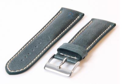 Uhrenarmband 24mm dunkelgrün Leder