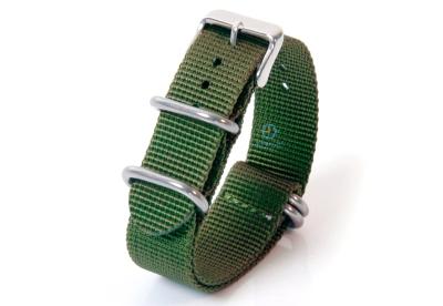 Uhrenarmband 22mm grün Nylon