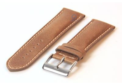 Uhrenarmband 24mm glänzend braun Leder