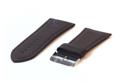 Uhrenarmband 34mm dunkelbraun Leder