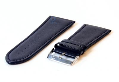 Uhrenarmband 36mm blau Leder