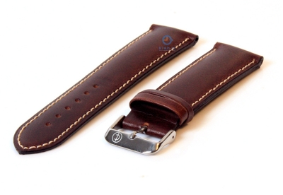 Uhrenarmband 26mm dunkelbraun Leder