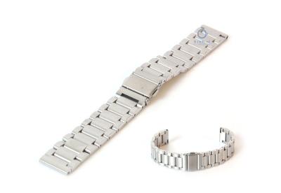 Uhrenarmband 18mm silber Stahl