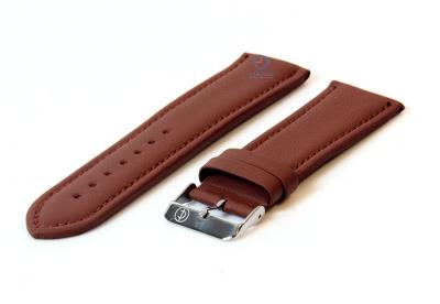 Uhrenarmband 26mm hellbraun Leder