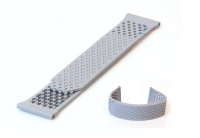 Uhrenarmband 23mm grau Silikon