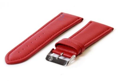 Rot 26mm Glatte Uhrenarmband Leder