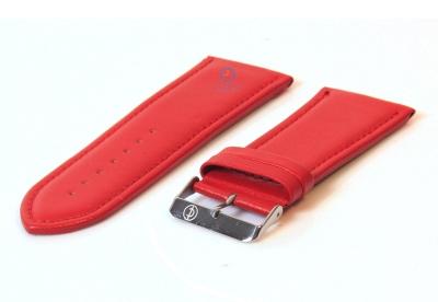 Rot 30mm Glatte Uhrenarmband Leder