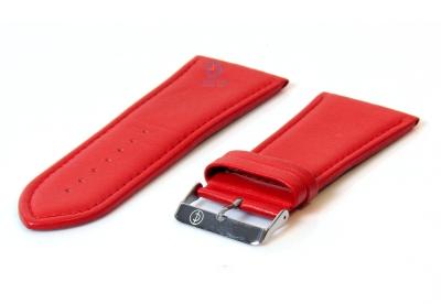 Rot 36mm Glatte Uhrenarmband Leder