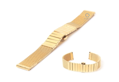Uhrenarmband 20mm gold Mailänder