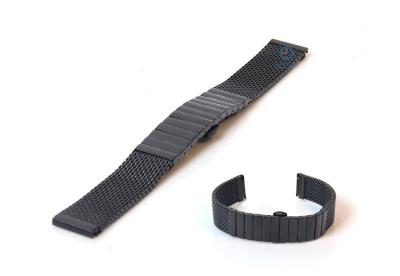 Uhrenarmband 22mm schwarz Mailänder