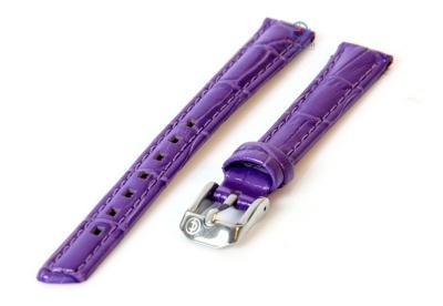 Uhrenarmband 12mm violett Leder mit Krokostruktur