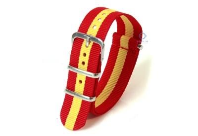 Uhrenarmband 22mm rot-gelb nylon