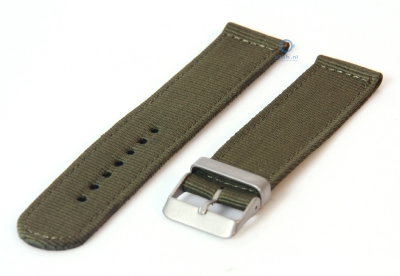 Uhrenarmband 20mm armeegrün nylon