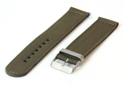 Uhrenarmband aus Nylon 22mm dunkelgrün