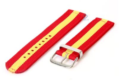 Uhrenarmband aus Nylon 22mm rot-gelb