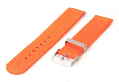 Uhrenarmband aus Nylon 22mm orange