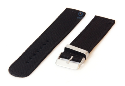 Uhrenarmband aus Nylon 20mm schwarz