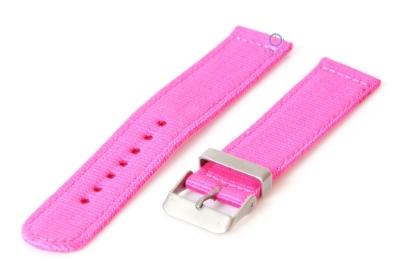 Uhrenarmband aus Nylon 18mm rosa