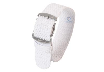 Perlon Uhrenarmband 20mm weiße