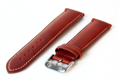 Uhrenarmband 26mm havanabraun Leder