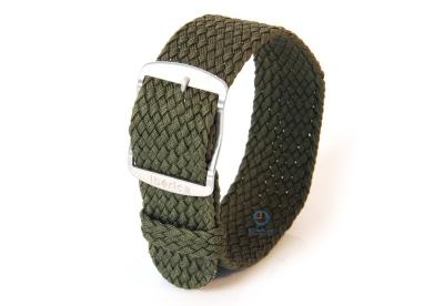 Perlon Uhrenarmband 22mm dunkelgrün