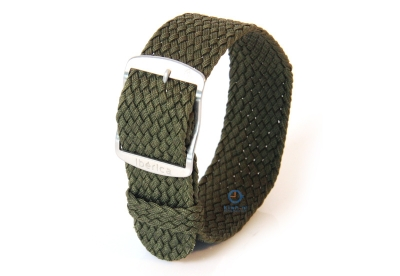 Perlon Uhrenarmband 20mm dunkelgrün