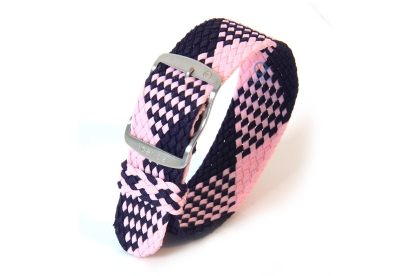 Perlon-Band 22mm blau-rosa
