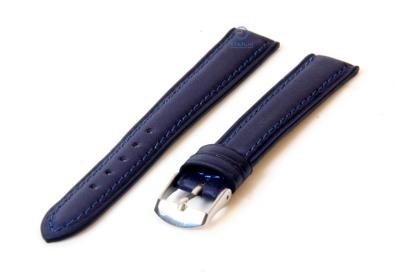 Uhrenarmband 14mm marineblau Kalbsleder