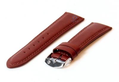 Uhrenarmband 14mm dunkelbraun Kalbsleder