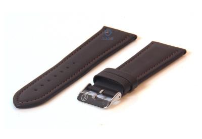Uhrenarmband 28mm dunkelbraun Leder
