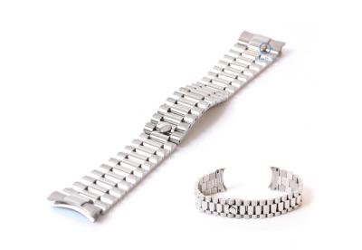 Rolex style Uhrenarmband 20mm Edelstahl silber