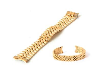 Rolex style Uhrenarmband 20mm Edelstahl gold