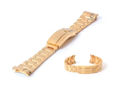 Rolex style Uhrenarmband 21mm Edelstahl gold