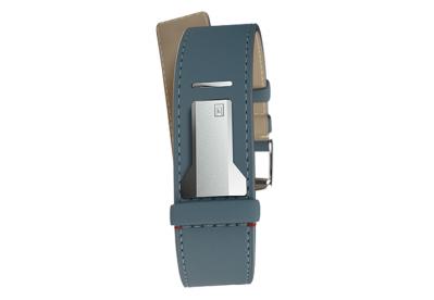 Klokers Uhrenarmband straight blau Leder