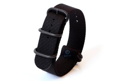 Zulu-Band 22mm schwarz