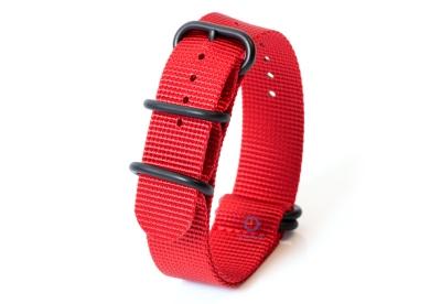 Zulu-Band 22mm rot
