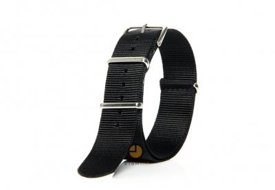 Uhrenarmband 22mm nato schwarz