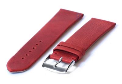 Uhrenarmband 24mm dunkelrot Leder