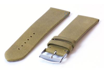 Uhrenarmband 22mm dunkelgrün Leder