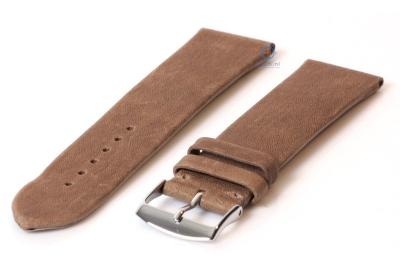 Uhrenarmband 24mm hellbraun Leder