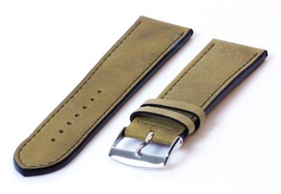 24mm Lederband in Kaki-farben