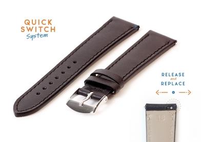 Uhrenarmband 18mm schwarz Leder